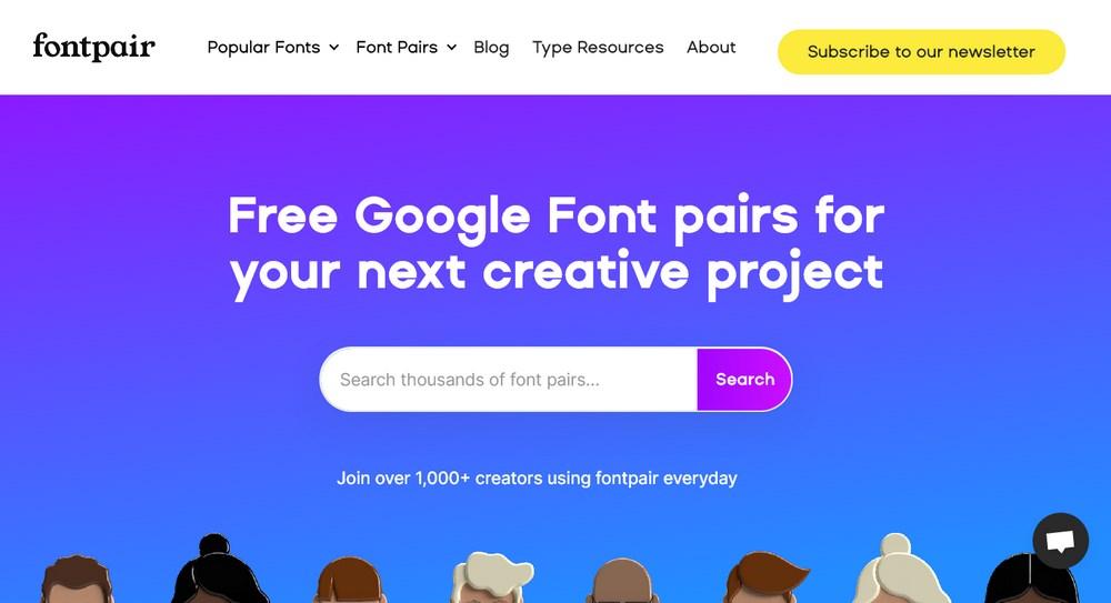 fontpair homepage