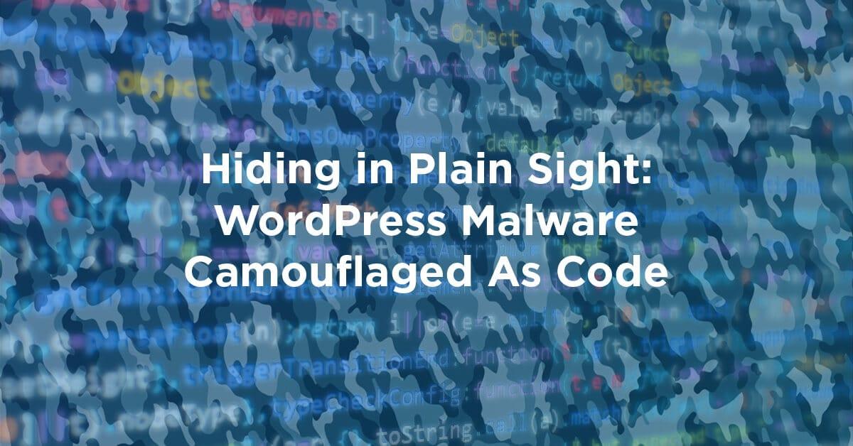 WordPress Malware Camouflaged As Code