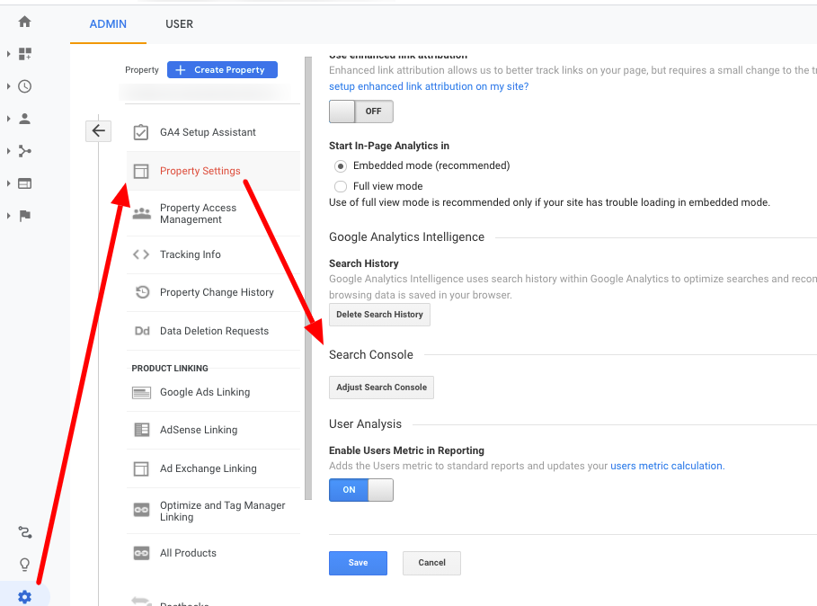 How to achieve Google Analytics and Google Search Console integration.