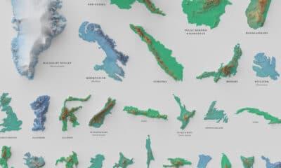 Visualizing the World's 100 Biggest Islands