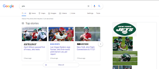 Machoine learning google SERP result.