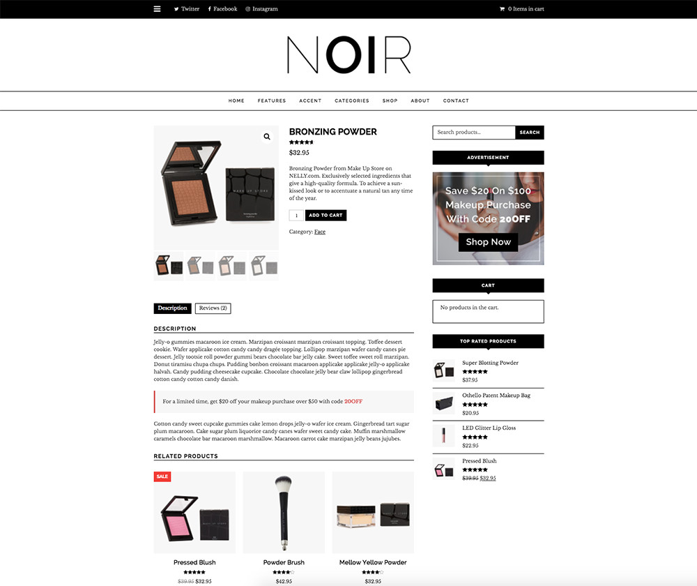 Simple WooCommerce Tips: Noir Related Products