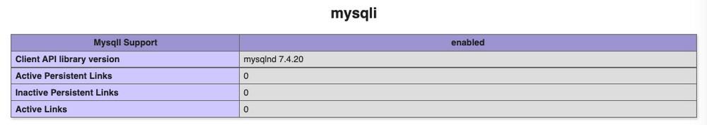 php mysqli