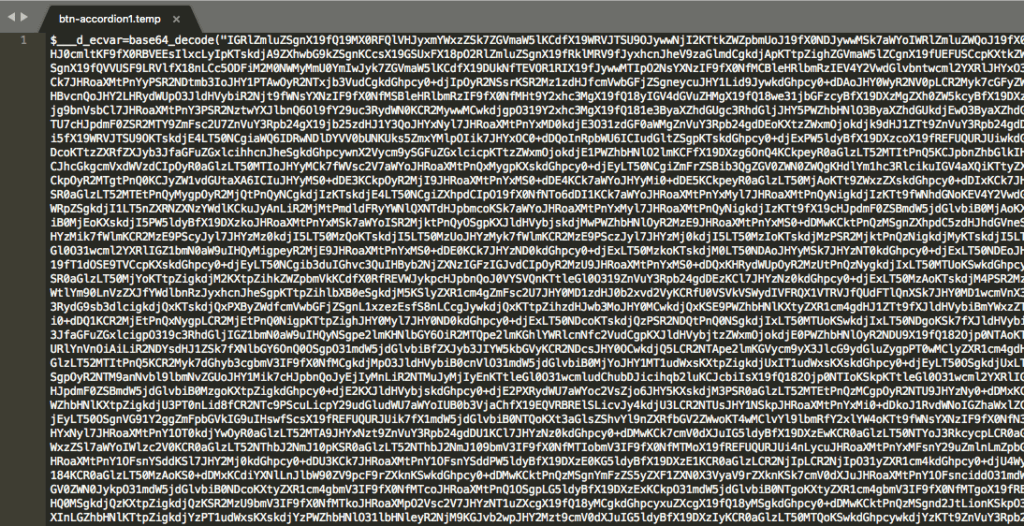 Second layer of obfuscation