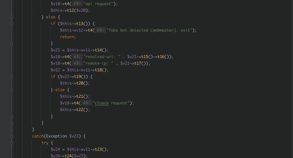 some functions in the deobfuscated webshell