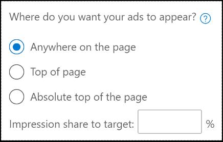 Target Impression Share Microsoft Ads