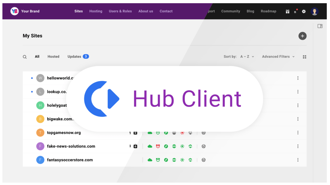 The hub client image.
