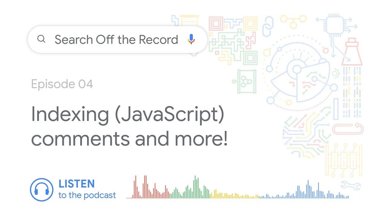 Indexing (JavaScript) comments and much more!   Search Off the Record podcast