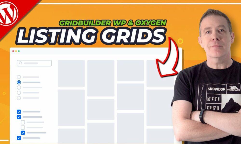 WordPress Listing Website with GridBuilder WP & Oxygen