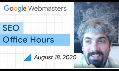 English Google Webmaster Central office-hours from August 18, 2020