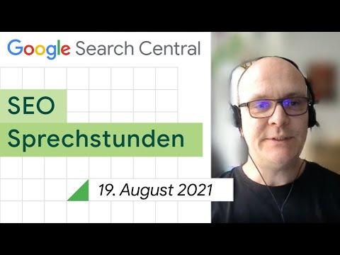 German / Google SEO Sprechstunden auf Deutsch vom 19. August 2021