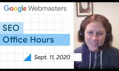 English Google Webmaster Central office-hours from September 11, 2020