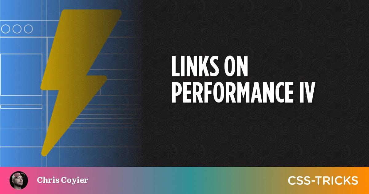 Links on Performance IV