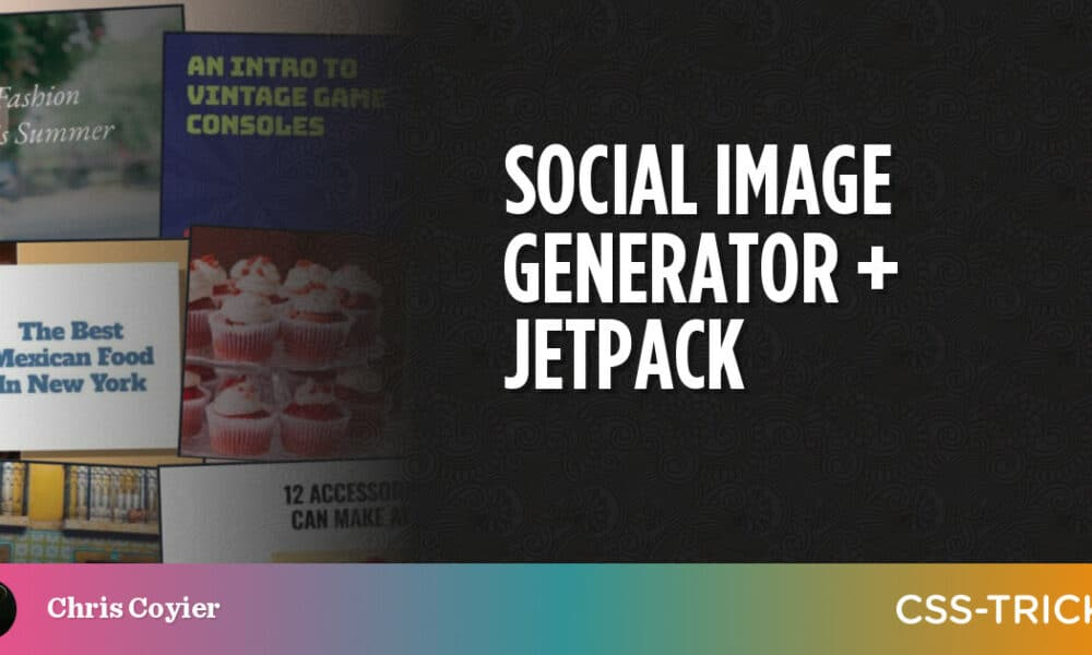 Social Image Generator + Jetpack