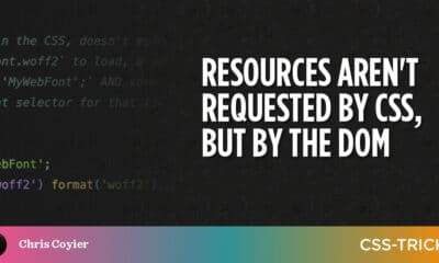 Resources aren't requested by CSS, but by the DOM
