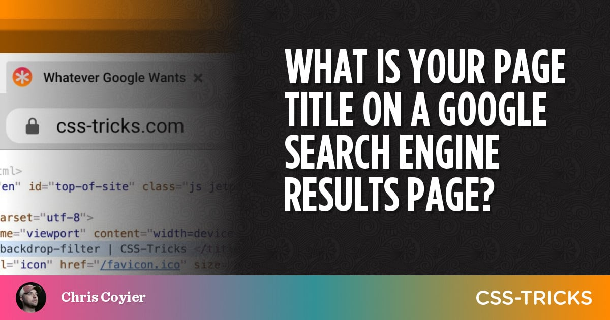 What is Your Page Title on a Google Search Engine Results Page?