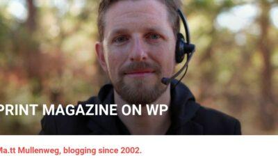 Print Magazine on WP