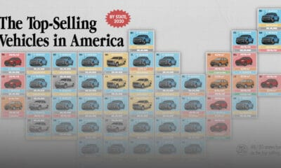 The Best Selling Vehicles in America, By State