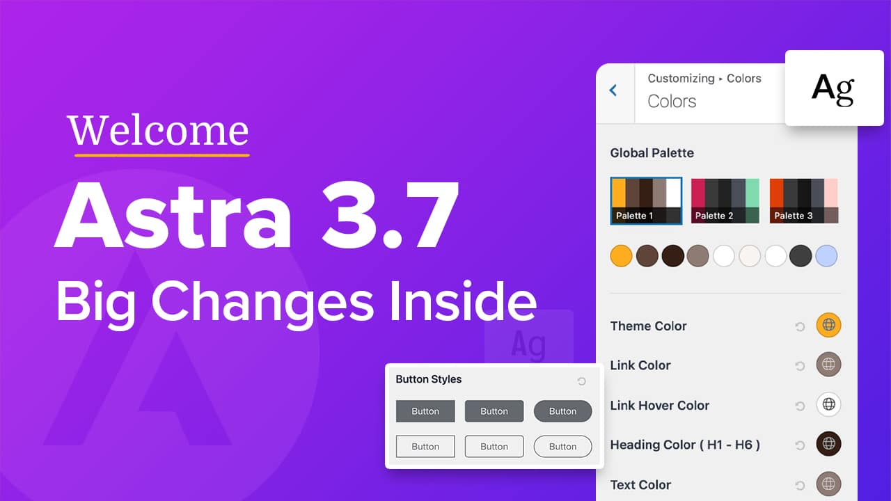 Introducing Astra 3.7 with Global Color Palette, Button & Typography Presets