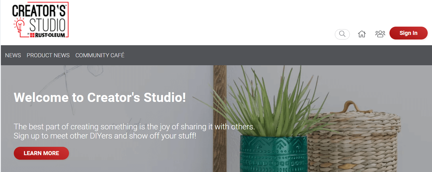 The Creator's Studio is an example of an online community.