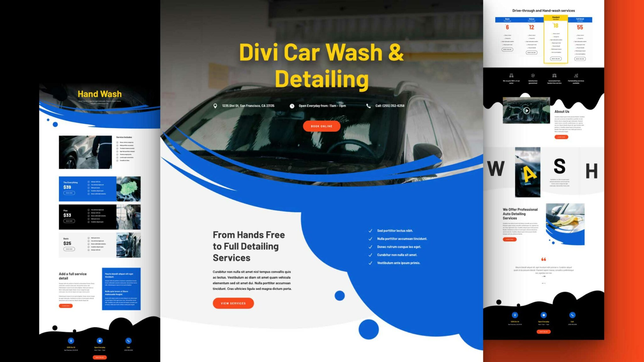 Get a FREE Car Wash Layout Pack for Divi