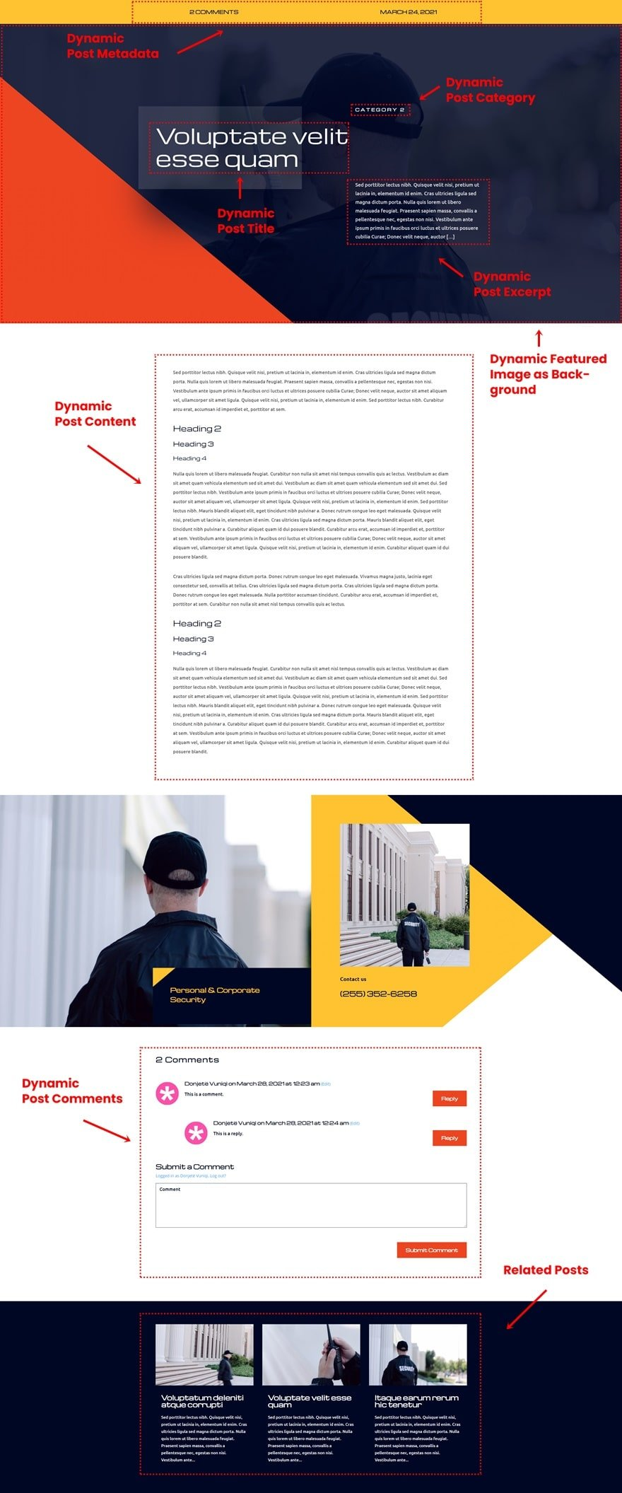 security services blog post template