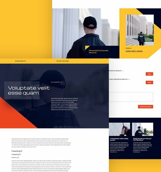 Download a FREE Blog Post Template for Divi's Security Services Layout Pack