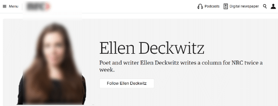 Ellen deckwitz NRC good example author page functionality