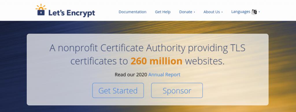 The Let's Encrypt website.