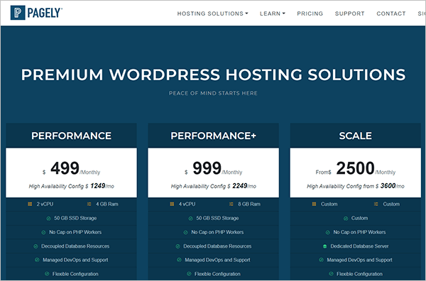Pagely web hosting