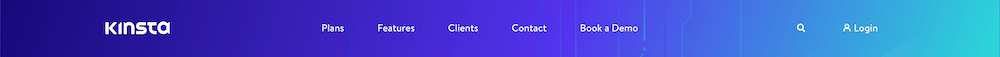 An example of a WordPress menu.