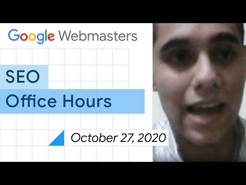 English Google SEO office-hours from October 27, 2020