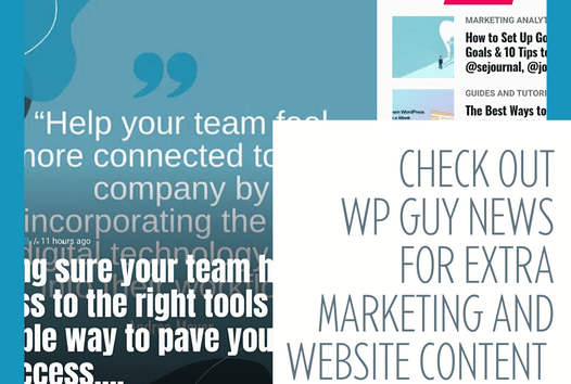 If you're looking for more relevant content about your website and business, check out the WordPress Guy News Feed. WordPress Guy is here to help! Sch...