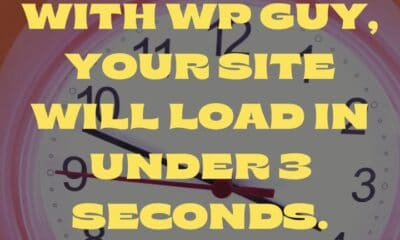 Most people abandon a website if it doesn't load in under 4 seconds. With WP Guy, we can work our magic to make sure your website loads in under 3 sec...