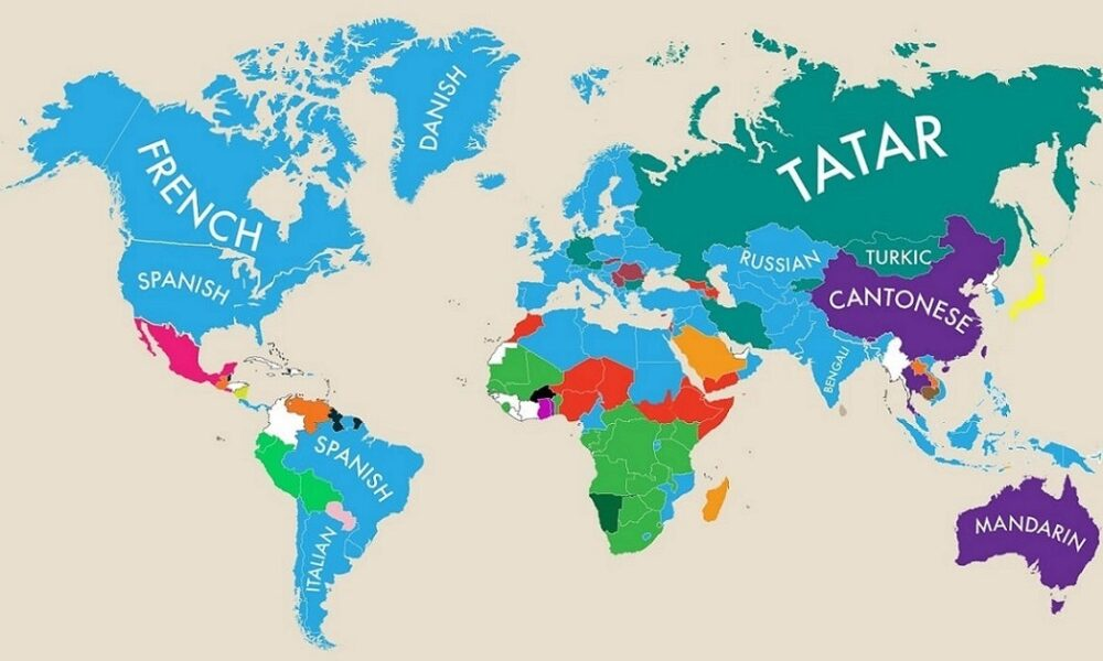 Mapped: Second Primary Languages Around the World