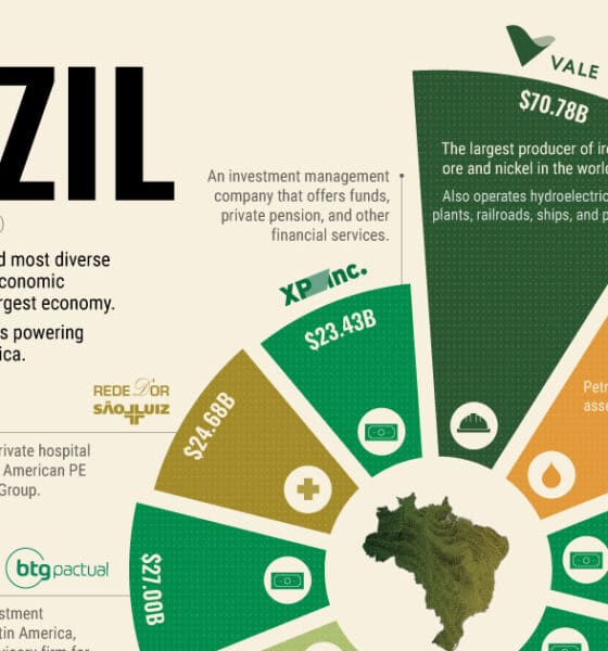 The Top 10 Biggest Companies in Brazil