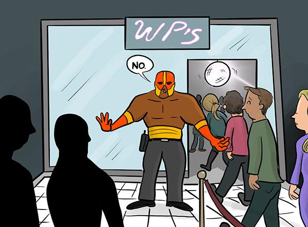 Cartoon of Defender banning bad user agents