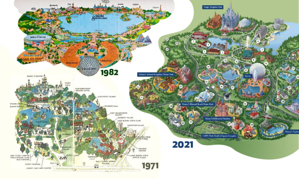 Mapped: The 50-Year Evolution of Walt Disney World